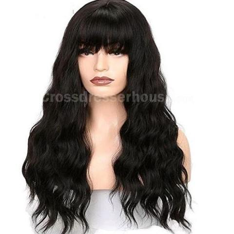 Hot Sales Long wig Cheap hairpiece Curly periwig for transvestites or womens Cosplay wig