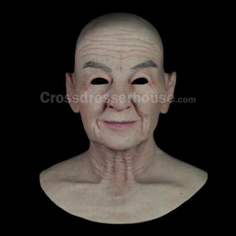 Realistic full head mask of old lady in sicilone Female silicone mask of high quality