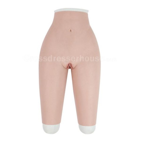 Transgender pant for crossdresser Cosplay silicone pants with urinary catheter Penetrable fake vagina available