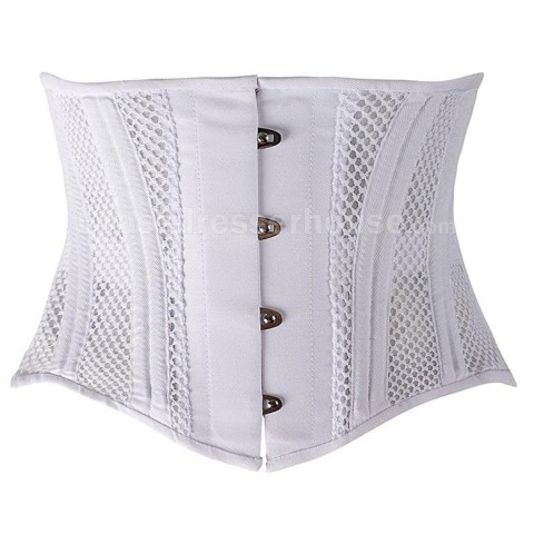 Short fishnet underbust corset with lightweight bones Female corset with comfortable to wear 2 colors available