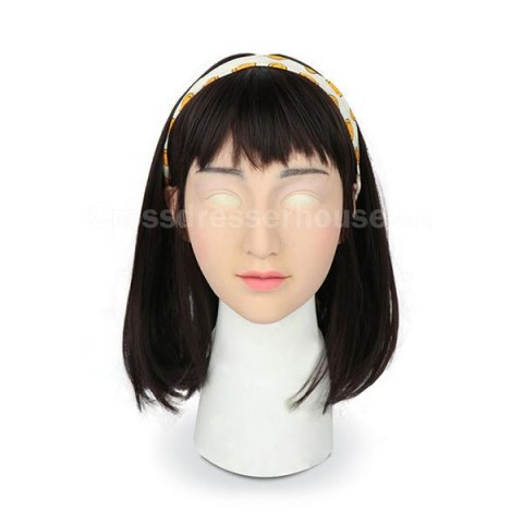 Realistic silicone face mask with makeup 2019 crossdresser mask of high quality