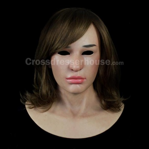 Female silicone mask crossdressing Realistic silicone face mask at affordable price