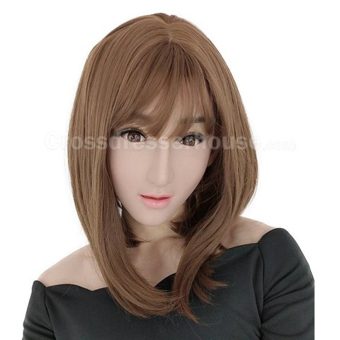Silicone face mask with makeup of good quality Crossdresser female mask inexpensive