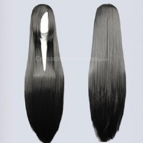 Hot sale 100cm Straight hairpiece Long wig Cosplay wig Transvestite wig Cheap periwig