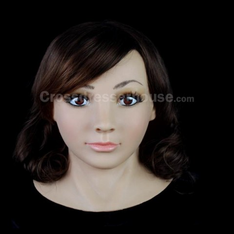Realistic silicone mask for crossdressing Mask integral of feminization inexpensive