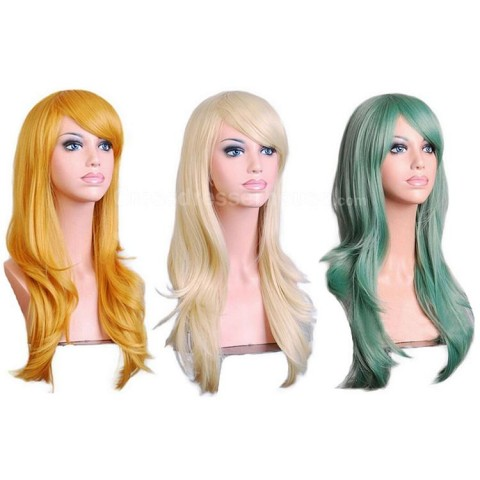 Cosplay wig Long wig inexpensive hairpiece Curly periwig New Arrivals for performance or transvestite