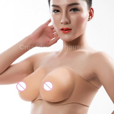 Artificial boobs in silicone transgender crossdressing Fake breasts without sleeves