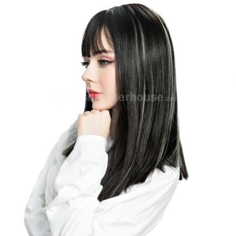 Long wig with fringe Cheap hairpiece Straight periwig New Arrivals Hot sell