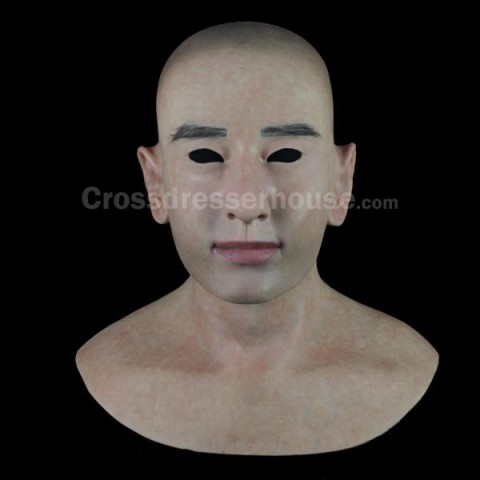 Full head silicone face mask inexpensive Realistic male mask for crossdressing