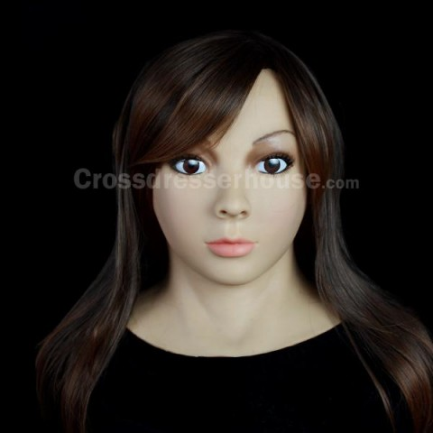 Crossdresser female mask full head Silicone face mask realistic of good quality
