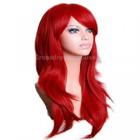 Recommended goods Cosplay wig Long wig Cheap hairpiece Curly periwig for transvestites