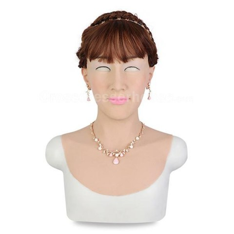 Full head crossdresser mask in silicone 2019 Realistic female face mask affordable