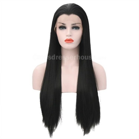 New Arrivals 70cm Straight hairpiece Long wig Cosplay wig Black periwig