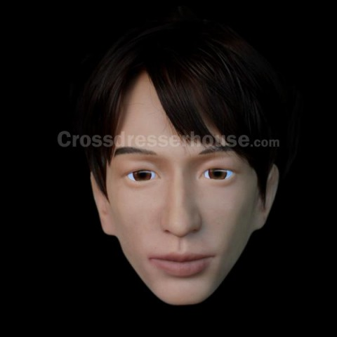Silicone mask disguise man transgender Realistic male face mask on promotion