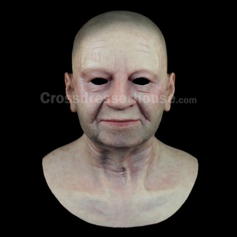 Realistic face mask of old woman in silicone Female silicone mask inexpensive