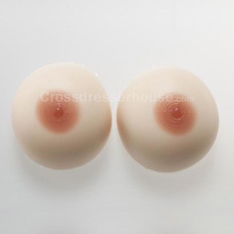 Separate fake breasts with rounde form in silicone Crossdresser fake boobs transgender