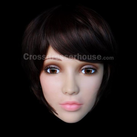 Mask disguise woman in silicone Cheap face mask female for crossdressing or photography