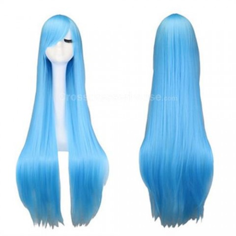 100cm Straight hairpiece Long wig Cosplay wig Transvestite wig Cheap periwig