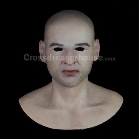 Realistic male silicone face mask Full head mask flexible for cosplay and movie