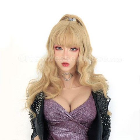 Fake silicone breasts with shorter length lightweight and comfortable Crossdresser breast forms high neck and sleeveless