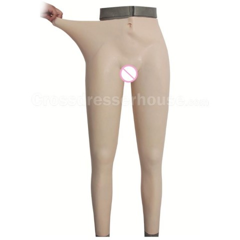 Transgender silicone pant with urinary catheter for Crossdresser or Cosplay Feminization pant Fake vagina available